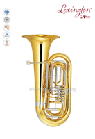 3/4 Bb Key Lacquer Finish Yellow brass Piston Tuba (TU500G)