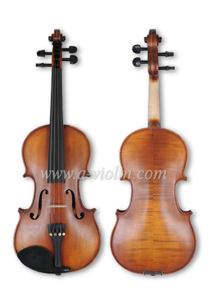 Wholesale Middle Grade Flame Back Metal violin(VM100)