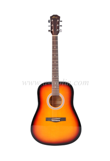 "[WINZZ] 41"" Musical Instrument Dreadnought Linden Plywood Maple Acoustic Guitar (AF229H)"