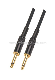 Black Spiral 6mm PVC Instrument Bulk Guitar Cable (AL-G010)