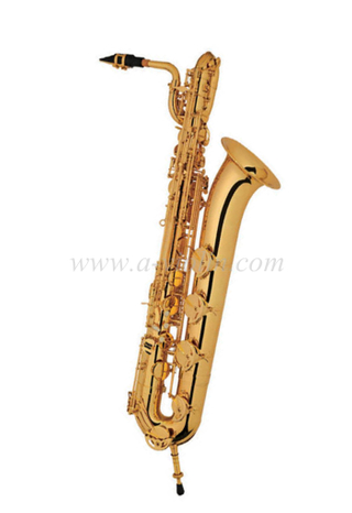 [Aileen] Curved body bB brass lacquered baritone saxophone (SP4001G)