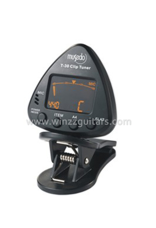 Clip on Tuner for Chromatic, Guitar, Bass, Violin (WST-30)