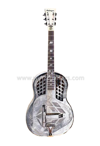 Metal With Engraving Resonator Guitar (RGS103)