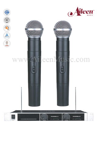 Instruments Handheld Fixed Channel FM VHF MIC Wireless Microphone (AL-6060VM)