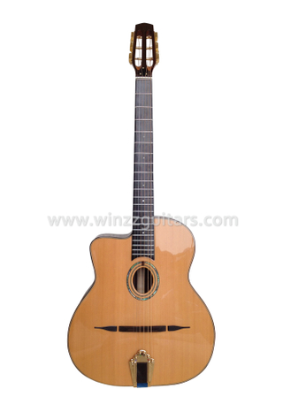 D Hole or Oval Hole Gypsy Jazz Guitar (AGJ160)
