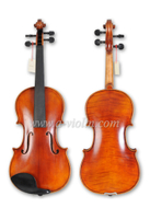 Entry-level Antique Style Oil Varnish Flamed Violin (VH100Y-N)