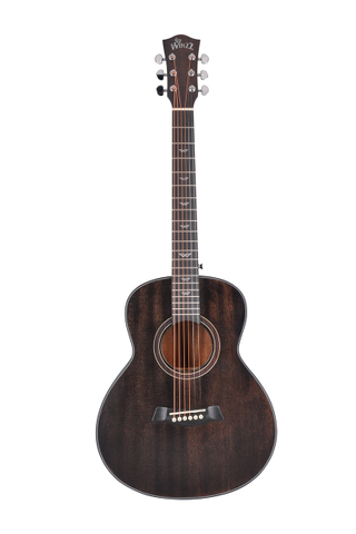 36'' Dark Brown High Density Man-made Wood Travel Acoustic Guitar (AF386-36)