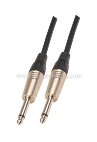 6mm Nickel Connector PVC Spiral Guitar Cable (AL-G027)