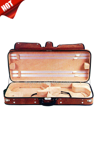 Plywood Shell Double Violin Hard Case (CSV207)