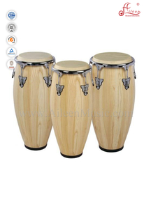 Wood Conga Drum/True Skin Cow Heads Conga Set (ACOC100NW)