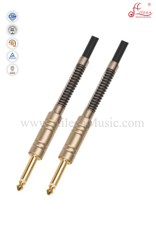 6mm Black PVC Musical Instrument Spiral Guitar Cable (AL-G005)