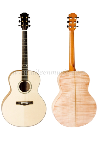 42 Inch Jumbo Guitar All Solid Acoustic Guitar (AFH420)