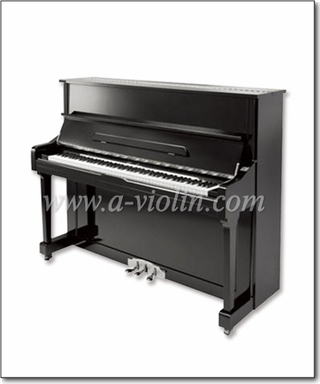 Black Polished Acoustic Upright Piano/88 Keys Silent Piano (AUP-121T)