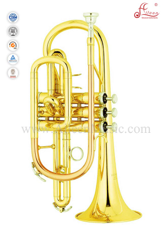 Gold Lacquer Bb Key Cornet (CN8711)