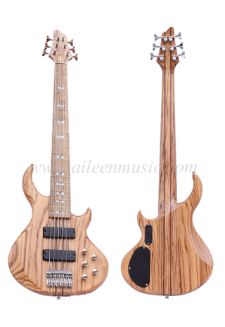 Zebrawood Body & Neck 6 Strings Electric Bass (EBS736-2)