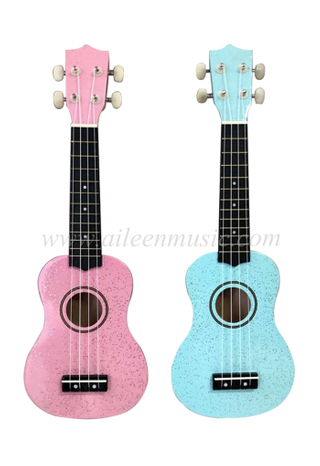 Colorful Plastic Fingerboard Soprano Sparkle Ukulele (AU01SP-21)