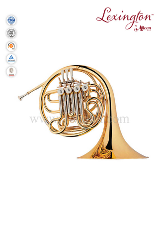 Standard Brass lacquered 4-Keys Single Yellow brass French Horn(FH7044G)