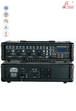 XLR Balanced 4 Channel PA Amplifier Treble Bass EQ Mobile Power Amplifier (APM-0430BU)