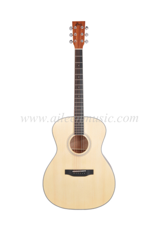"High Quality 40"" OM Shape Body Student Acoustic Guitar (AF17-OM)"