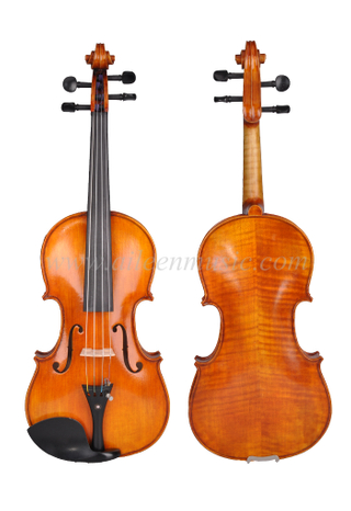 "Professional Selected Solid Spruce Top With"" Oil Varnish"" Series Antique Style Advanced Violin (VH400VA)"