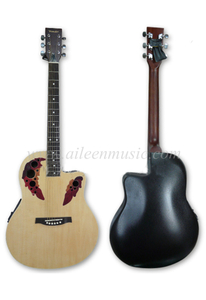 ABS Binding 41 Inch Cutaway Ovation Round Back Guitar (AFO229CE-41)