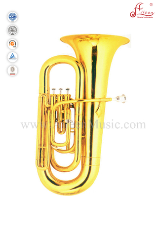 3 Valves Bb Key Gold Lacquer Children Tuba (TU9914)