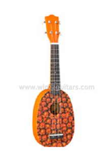 Pineapple shape All linden plywood children ukulele(AU01R-PD2)