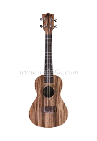 Many size Arched back ukulele with zebrawood plywood (AU03LAB)