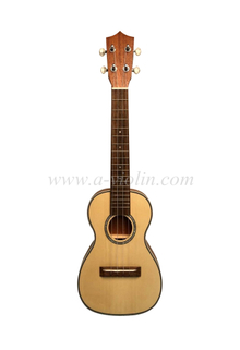 high quality spruce plywood top thin body ukulele (AU17L-TB)