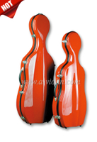 1/8, 1/4, 1/2, 3/4, 4/4 Colorful Fiberglass Cello Hard Case (CSC201)