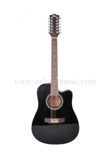 12 Strings Cutaway Acoustic Electric Guitar (AF8A8CE12)