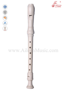 Plastic Ivory Baroque Recorder Flute (RE2626B)