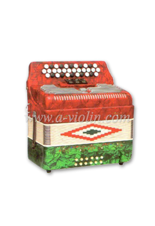 34Button 12Bass 3/0 Register Diatonic Button Accordion (B3412)