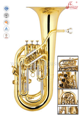 Gold Lacquer 3 Valves Bb Key Euphonium (EU9543)