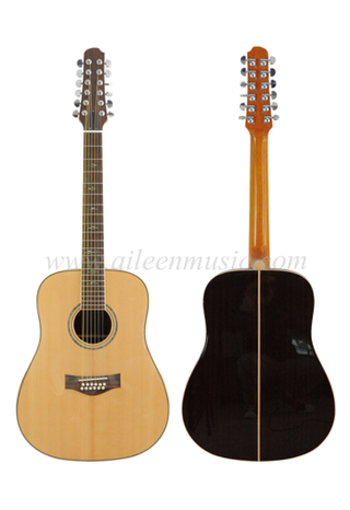 Solid Spruce 12 String Acoustic Guitar (AFM30-12)