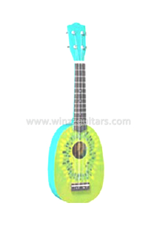 Pineapple shape glossy finish children ukulele(AU01R-PD1)
