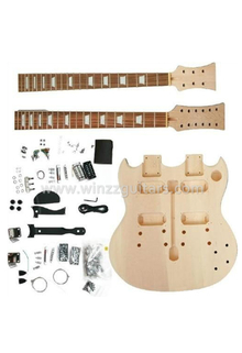 Double Neck DIY Electric Guitar Kits (EGD220-W)