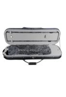 Oblong deluxe foamed violin case with silk interior( CSV073A)