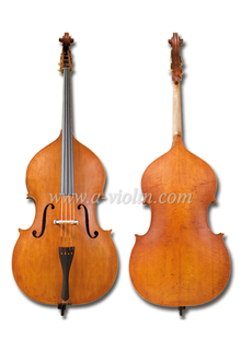 Professional Violin Shape Student Double Bass With Bridge& Strings (VDB102)