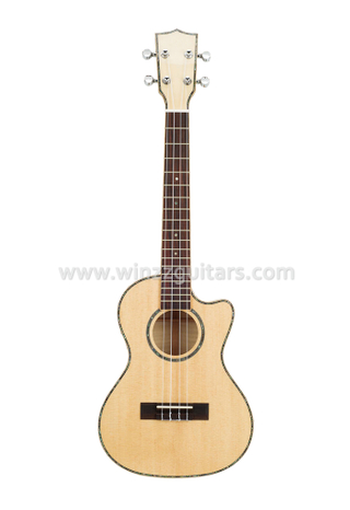 Solid Flamed Maple Tenor Cutaway Ukulele (AU90AC-26)