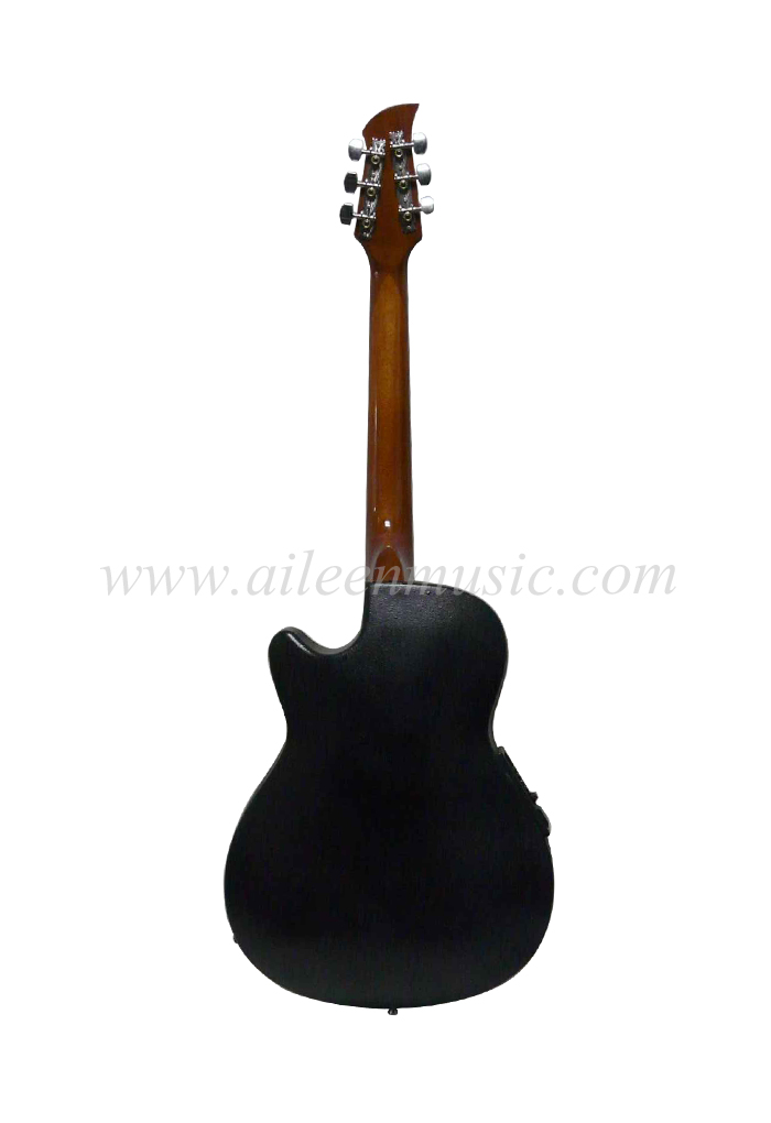 "[Aileen] Prev Next 38"" Cutaway Round Back Western Ovation Guitar (AFO831C)"